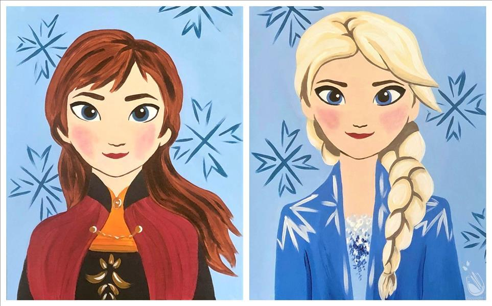 How to Paint Frozen Friends - Anna and Elsa Set