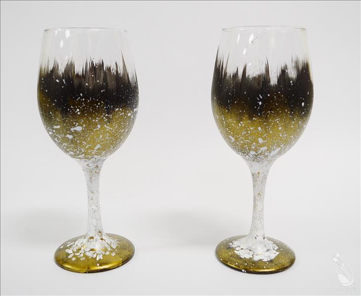 How to Paint Hollywood Glamour Glassware Set