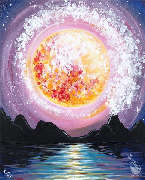 **Mystic Moonlit Mountain** Paint N Sip pARTy!