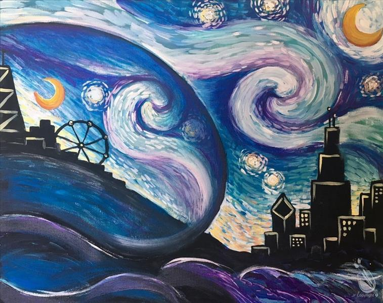 Starry Sky and the Bean Painting Party