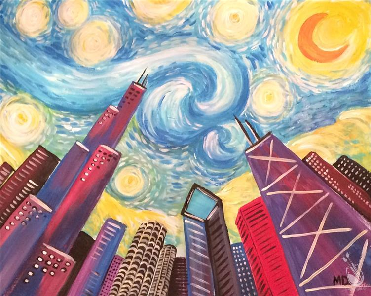 My Kind of Town Couples/BFF-Starry Night Chicago