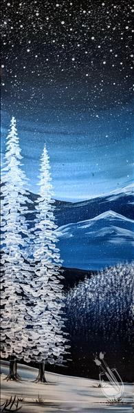 How to Paint Winter at the Smokies *Real Wood Board!*