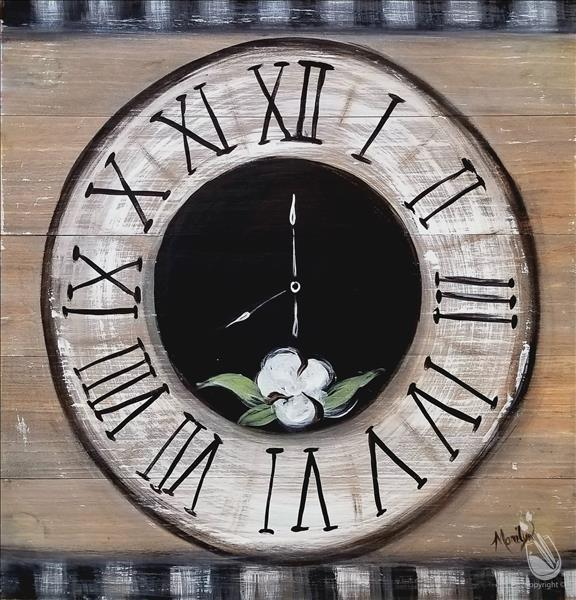 How to Paint A Rustic Farmhouse Clock Real Wood Board