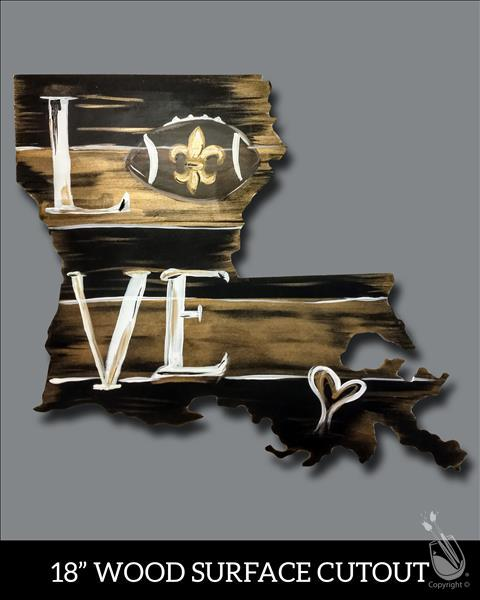 "LA Cutout! ""Black and Gold Love"""