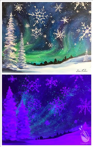 BLACK LIGHT EVENT ~ Snowflakes Falling