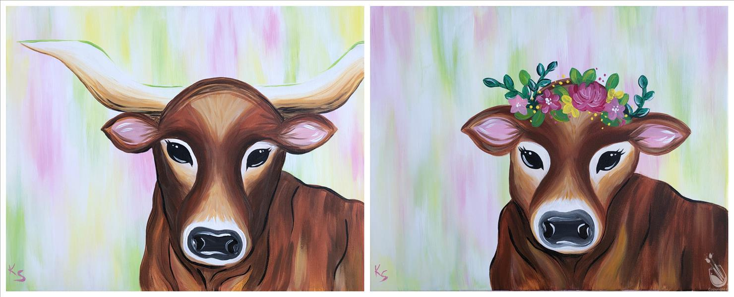 How to Paint Cow Love