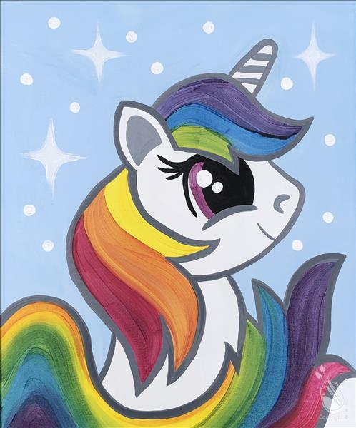 How to Paint *UNICORN CAMP!* Day 1: Rainbow Magic Unicorn