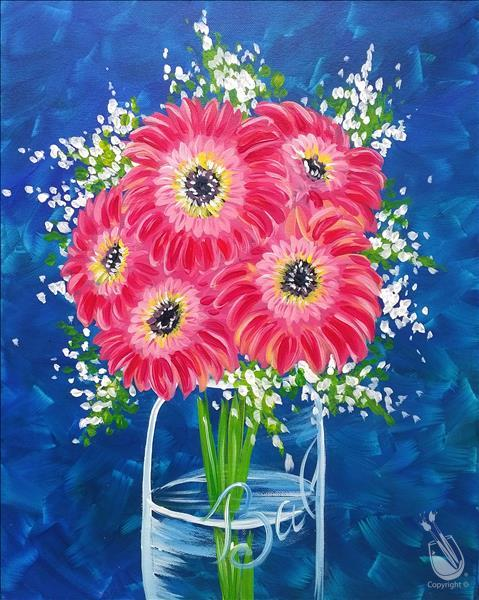 How to Paint Vibrant Gerbera Daisies
