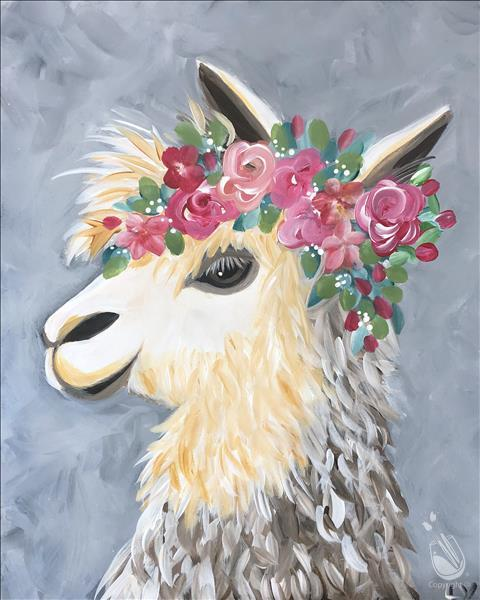 How to Paint Laura's Lovely Llama-Teens or Adults! 13+