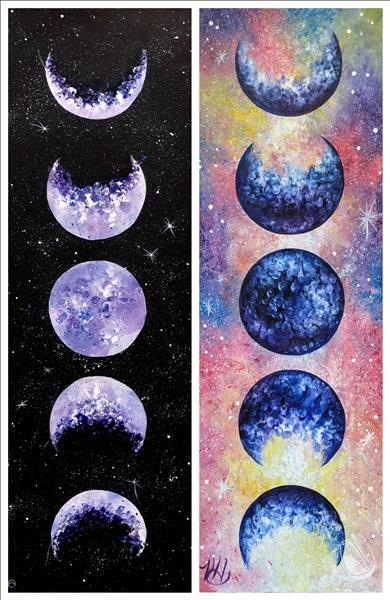 Lunar Love - ADULT FINGER PAINTING - Limited!