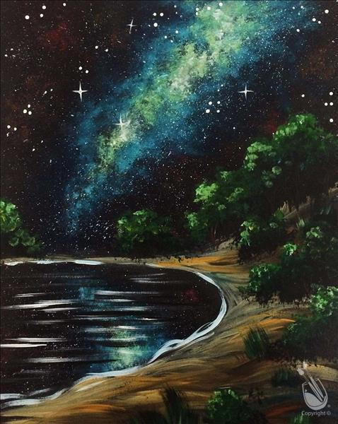 Lake Galaxy Night