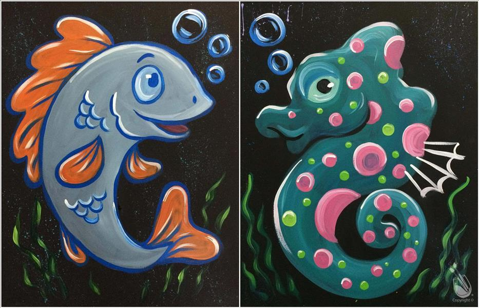How to Paint Sea Babies - Choose Fish or Seahorse