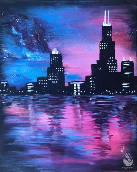 Skyline and Stars- Evening Art Party