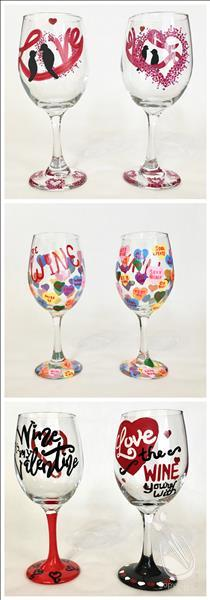 Thirsty Thursday, Wineglass Workshop, Any set of 2