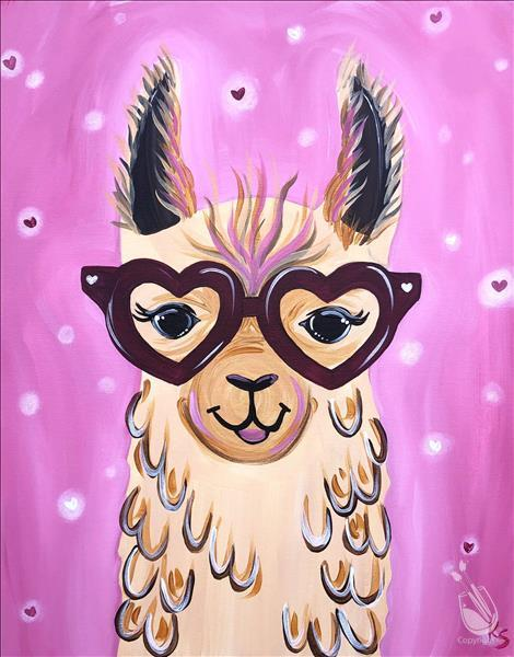 Family Valentine Party! - Llama Love