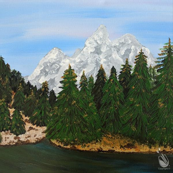 How to Paint A Grand Teton Moment