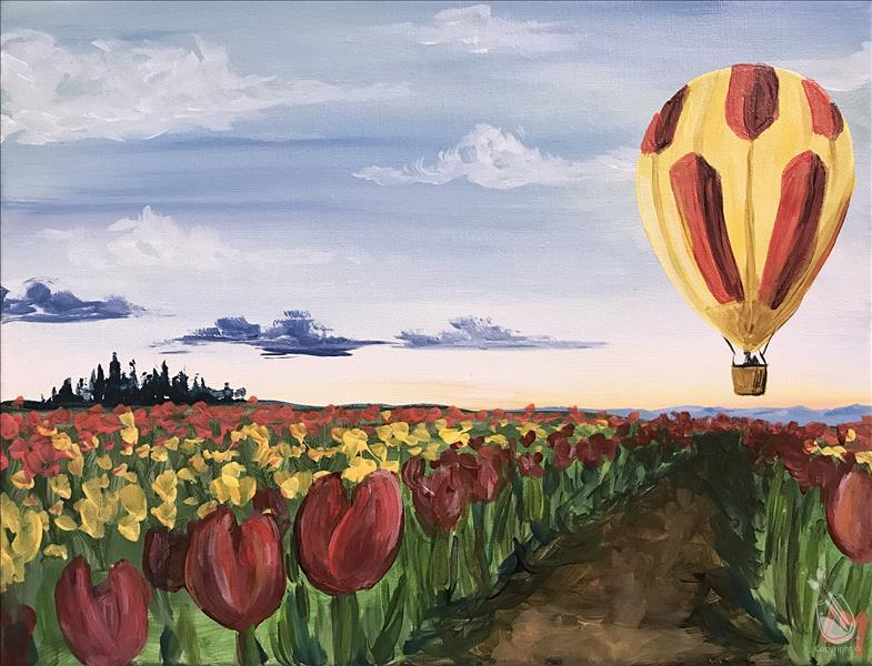 Floating Over the Tulip Fields