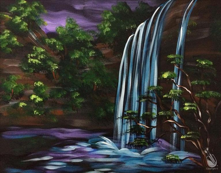 How to Paint Majestic Waterfall