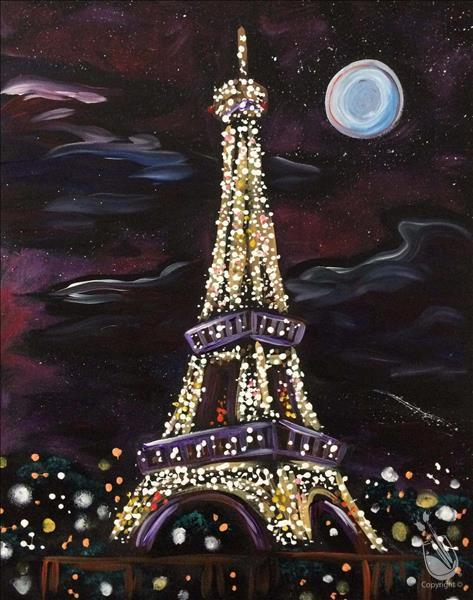 How to Paint Eiffel Tower Lights {Date/BFF Night}