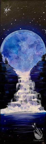 How to Paint IN STUDIO ~ Limited Seating Blue Moon Rising (18+)