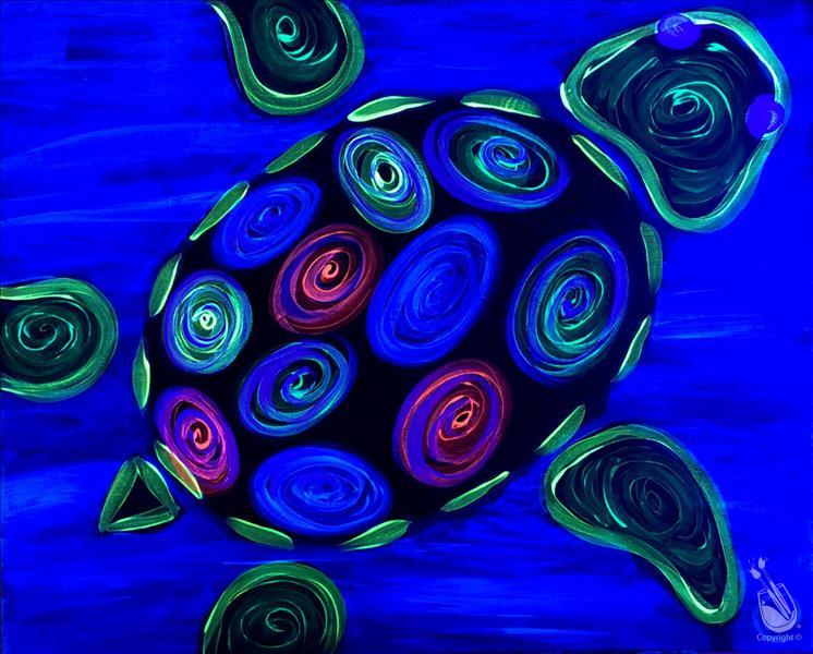 Neon Turtle BLACKLIGHT