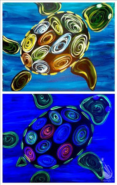 BLACK LIGHT FAMILY NITE ~ Neon Turtle ~ AGES 7& up