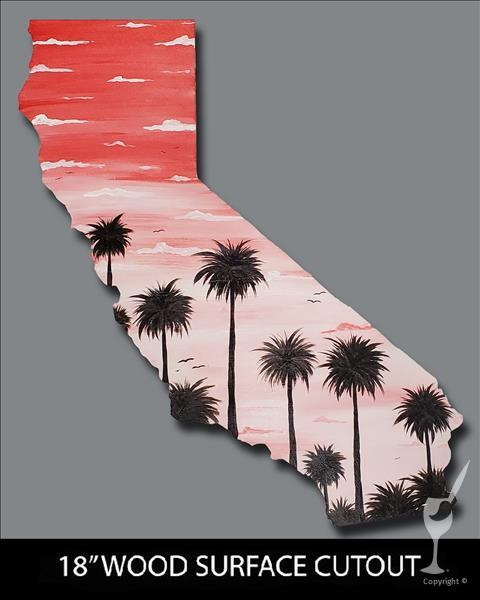 L.A. Sunset Palms Cutout