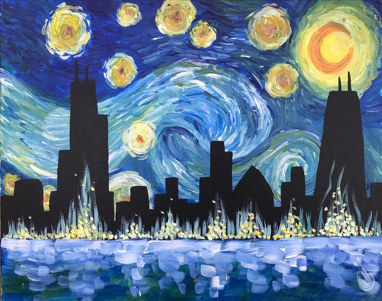 Starry Starry Chicago Painting Party