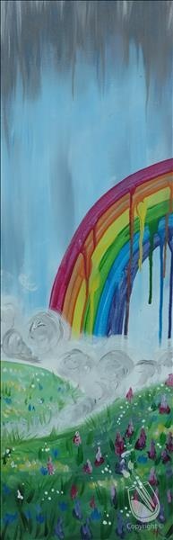 Happy Wednesday-Drippy Rainbow New 10x30!