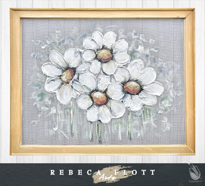 Rebeca Flott Arts - Daisies Screen Art