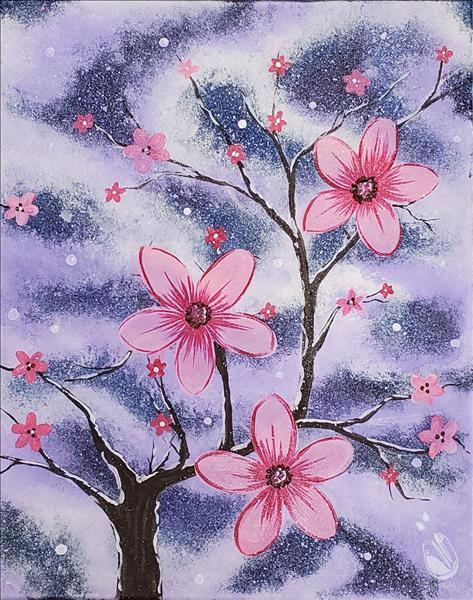 Snow Blossoms in Pink