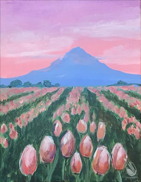 *IN STUDIO* Pink Tulip Fields