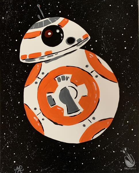 The Space Droid Orb - Orange Droid