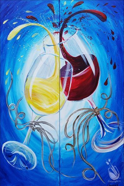 Wine Glass Splash (Date Night or Single)