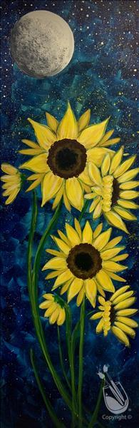 Sunflower Glow {Black Light Room