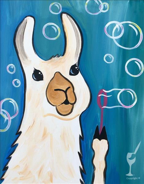 VIRTUAL OR IN STUDIO: Summer Fun! Bubbly Llama