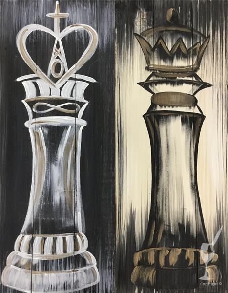 Rustic Royalty - Real Wood Board or Canvas Set