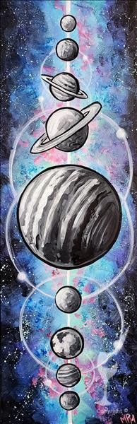 Solar System-Brand NEW Art by Our Own Marcy Moon!