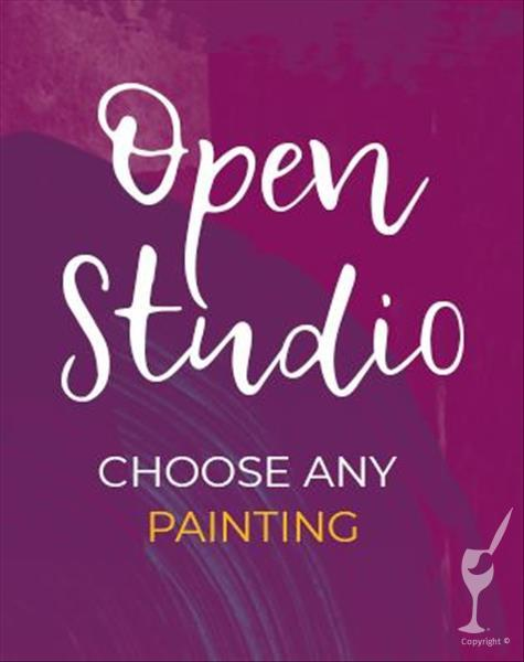Open Studio! Pick Any Painting + Canvas (Ages 12+)
