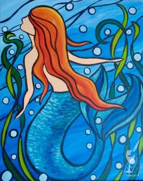 How to Paint Stained Glass Mermaid