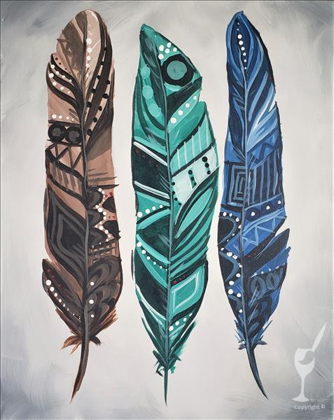 In-Studio / Painted Feathers