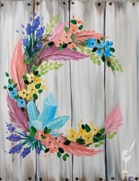 Bohemian Wreath - In Studio