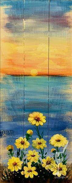 A Seaside Sunrise Real Wood Board or canvas