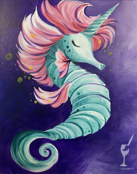 KIDS CAMP: Pastel Seahorse (Ages 7+)