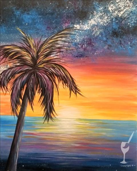 How to Paint IN STUDIO ~ Limited Seating ~NEW Galactic Palm