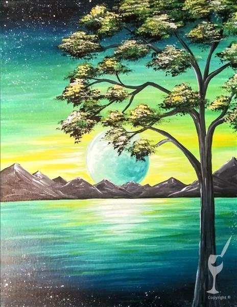 How to Paint Moonlit Calm 2