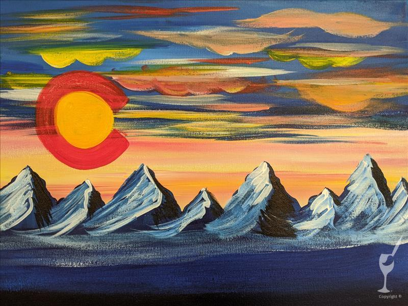 How to Paint Beautiful Colorado Sunset