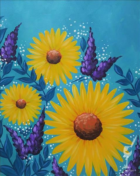 "Bright & Happy ""Splendid Sunflowers"" Ages 12+"