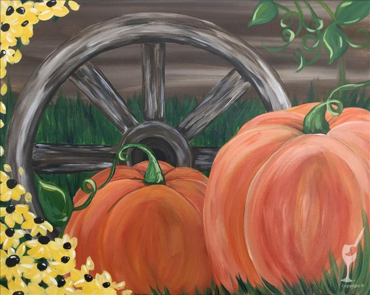 Wagon Wheel Pumpkins