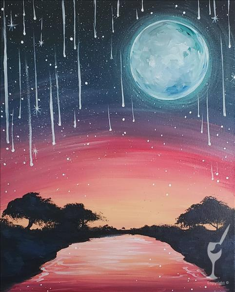 Shooting Starfall Painting Party
